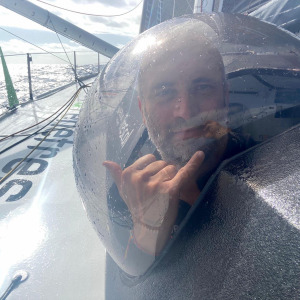 Fabrice Amedeo in his bubble