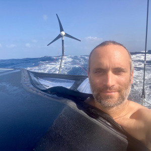 Fabrice Amedeo and his wind turbine