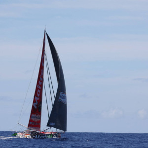 Boris Herrmann and Yannick Bestaven have been sailing together since yesterday