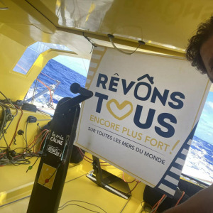Arnaud Boissieres (La Mie Caline - Artisans Artipole) beginning the 17th day of the Vendee Globe