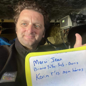 Message of support from Arnaud Boissieres to Kévin Escoffier and all those who participated in its rescue