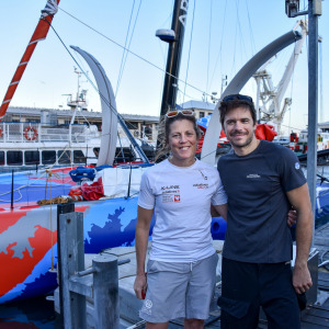 Sebastien Simon and Sam Davies united in Cape Town after their retirement of the Vendée Globe