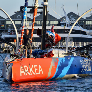 Sébastien Simon arrived safely in Cape Town after retiring from the Vendée Globe.