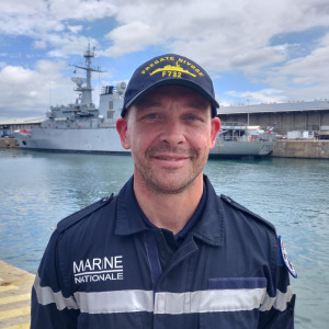 Kevin Escoffier arrived in Reunion Island thanks to the French Navy