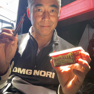 Kojiro Shiraishi ready to taste salted butter and rice