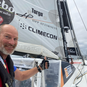Ari Huusela and his boat STARK are doing well on this 36th day of the race