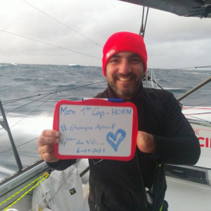 Damien passes Cape Horn for the first time