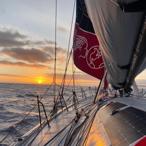 Sunrise onboard TSE - 4myPlanet on this 57th day of the race