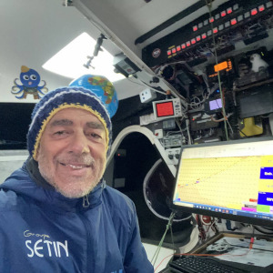 Even if it's not easy every day, Manuel Cousin is having a lot of fun during this Vendée Globe