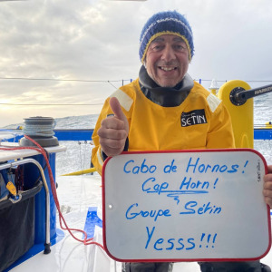 Manuel Cousin has rounded his first Cape Horn!