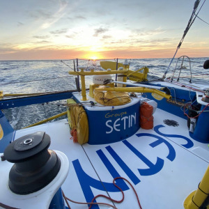 The sun sets on Groupe SETIN in the South Atlantic Ocean