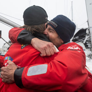 So many emotions between the first two international skippers to finish this Vendée Globe.