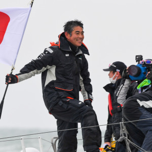 He makes history and becomes the first Asian to finish a Vendée Globe.