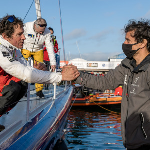 Clément Giraud was welcomed and congratulated by Didac Costa on his arrival
